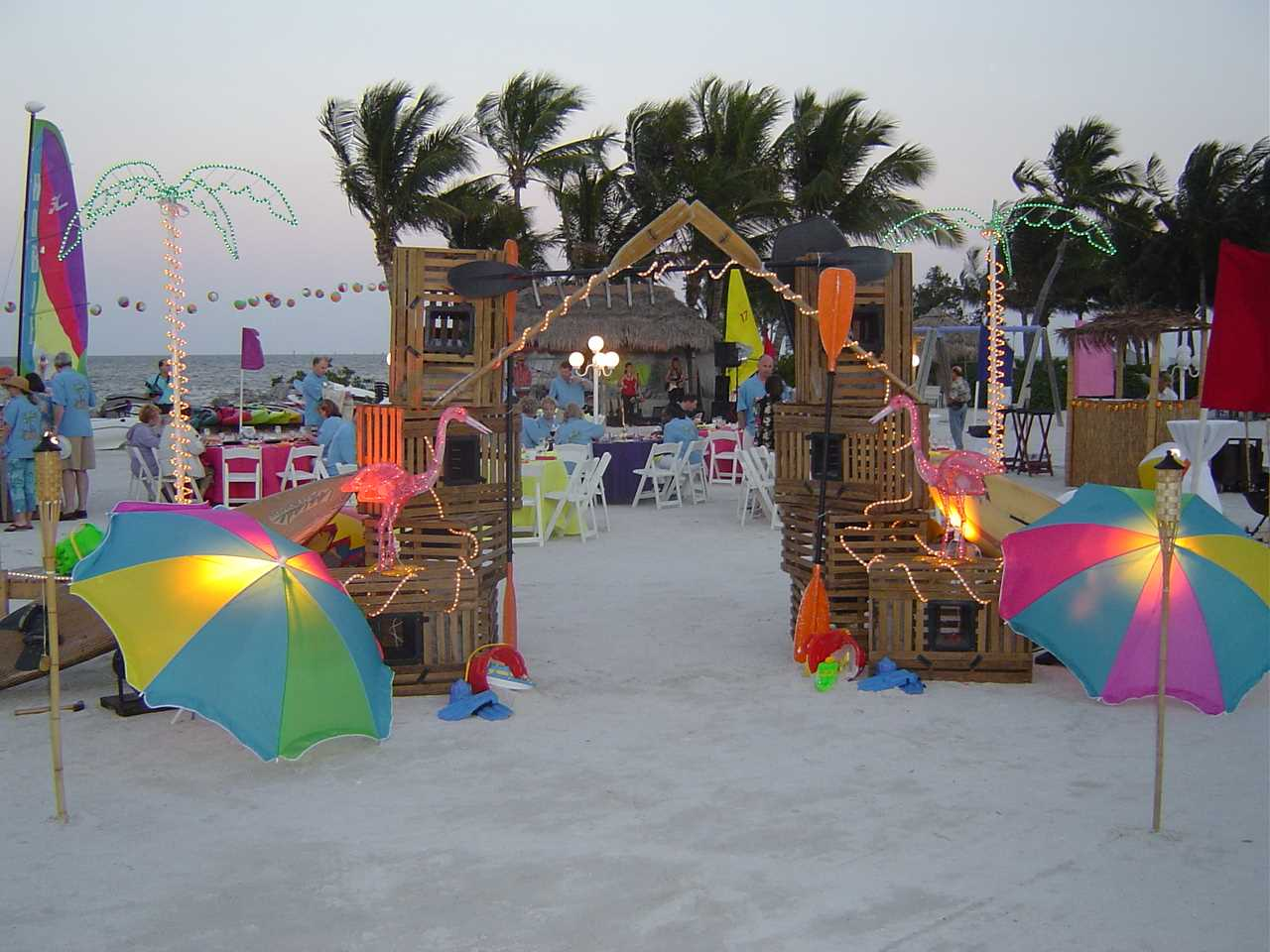 beach party decorations party favors ideas
